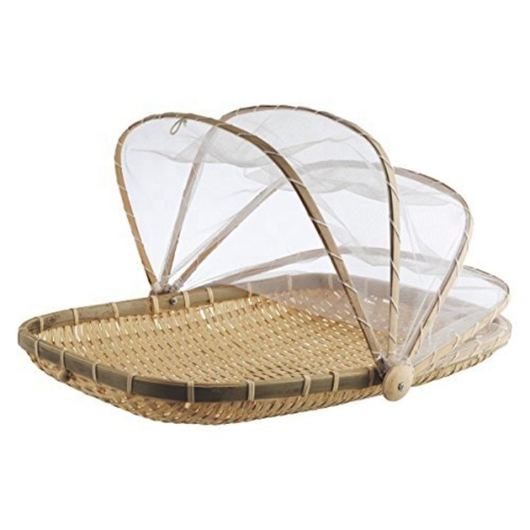 Bamboo food netted cover