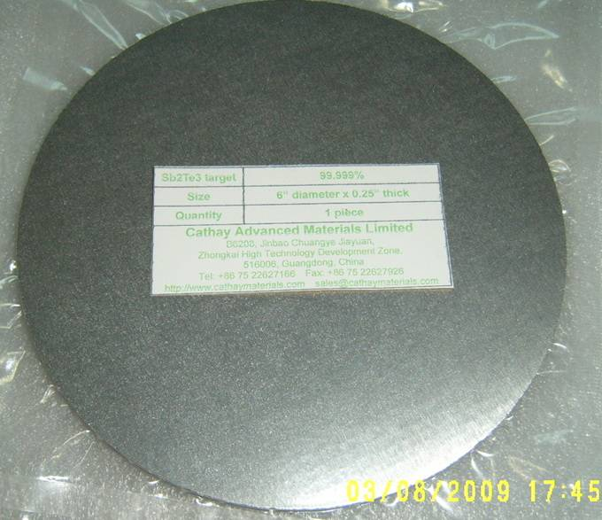 Antimony Telluride (Sb2Te3) target
