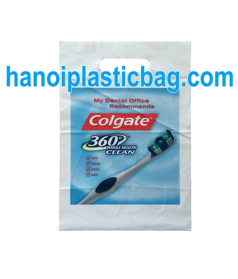 PLASTIC BAG DIE CUT HANDLE BIODEGRADABLE