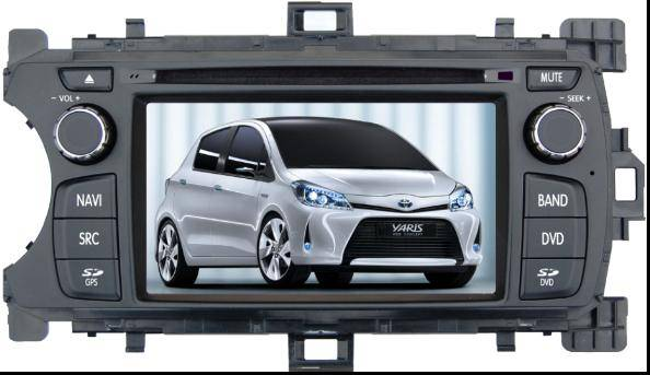 Double Din Car DVD With GPS Toyota New Yaris 2012