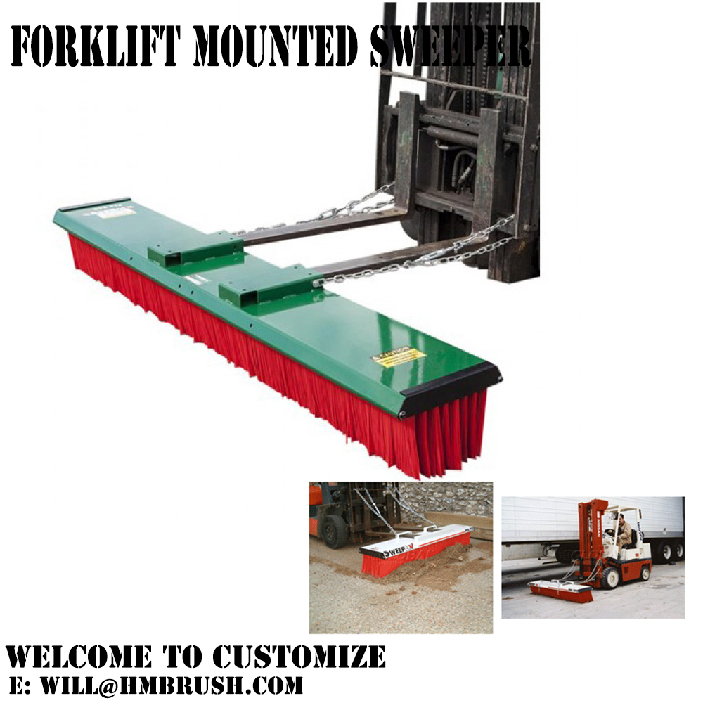 Forklift Attachment Sweeper Brush
