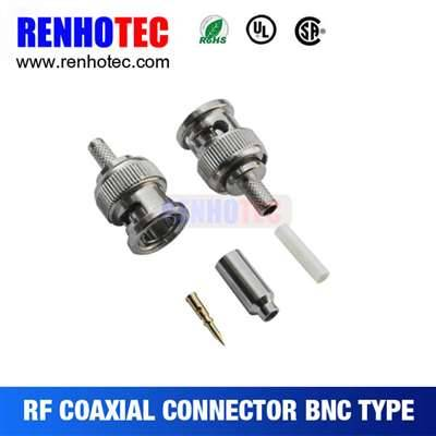 Crimp BNC Plug Connector For Cabel RG174/179