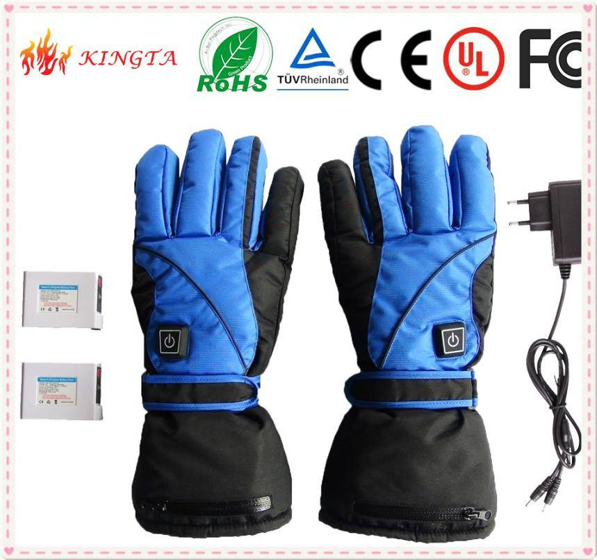 2015  New Fashion Winter Warmer Battery Heated Electric Ski Gloves
