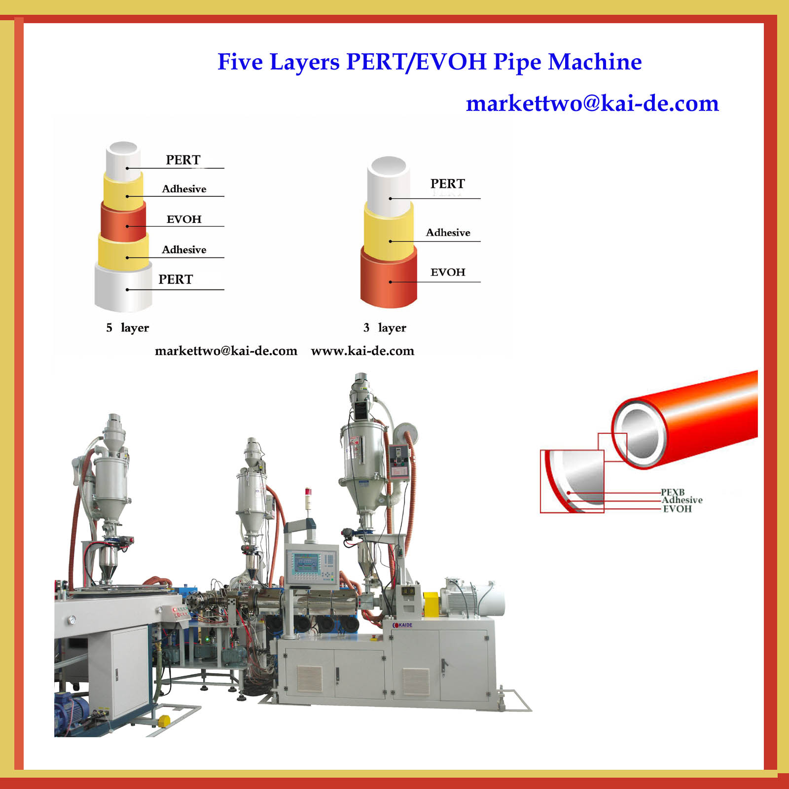 EVOH/PERT Pipe Making Machine (Whatsapp 86-13705369780)