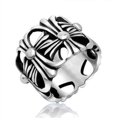 Wholesale chrome heart stainless steel punk &Rock style rings for men