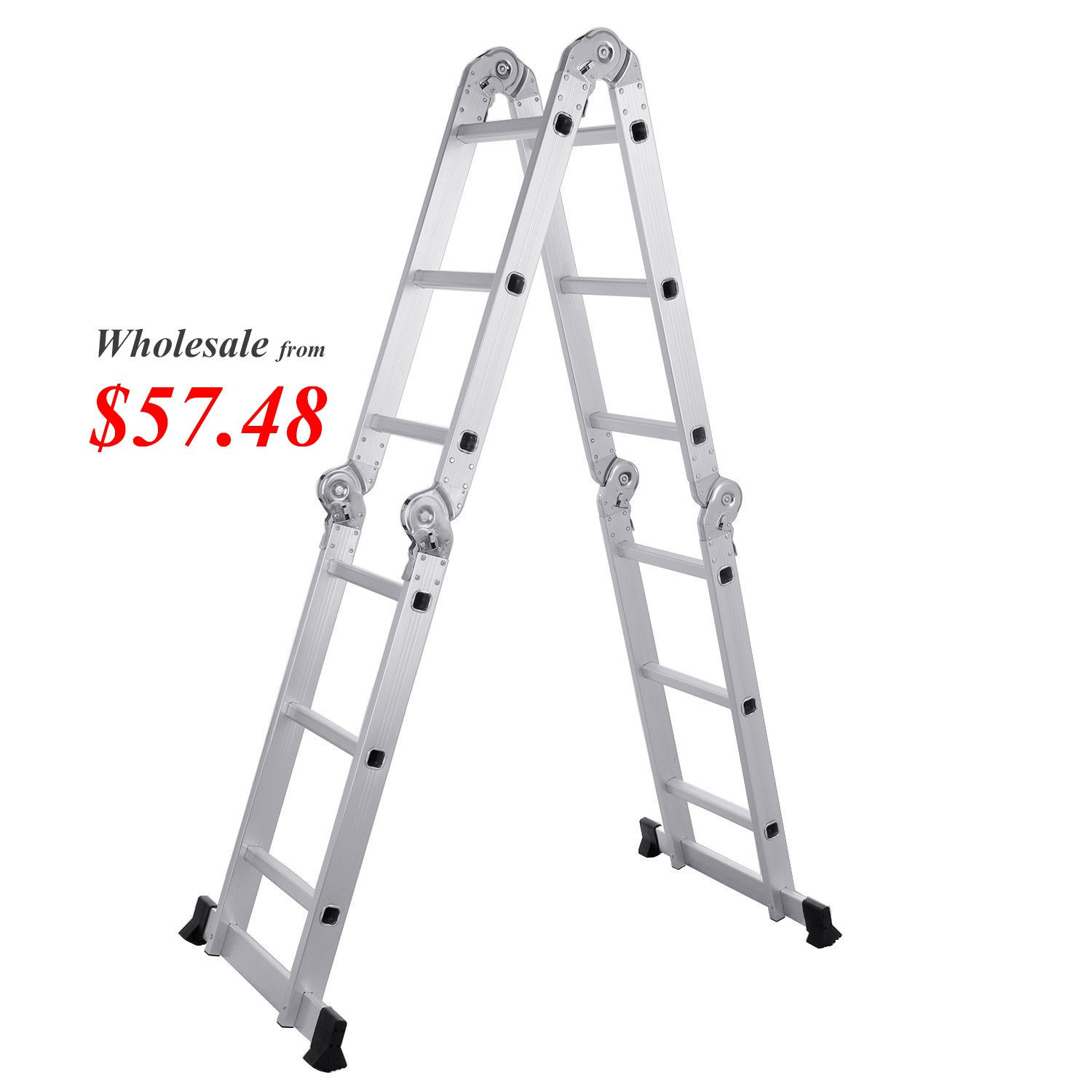 Lifewit Folding 7 in 1 Multi Purpose Extendable Platform Scaffold