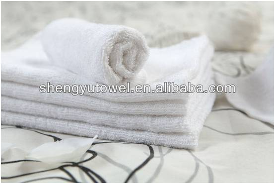 solid color terry cotton hand towel