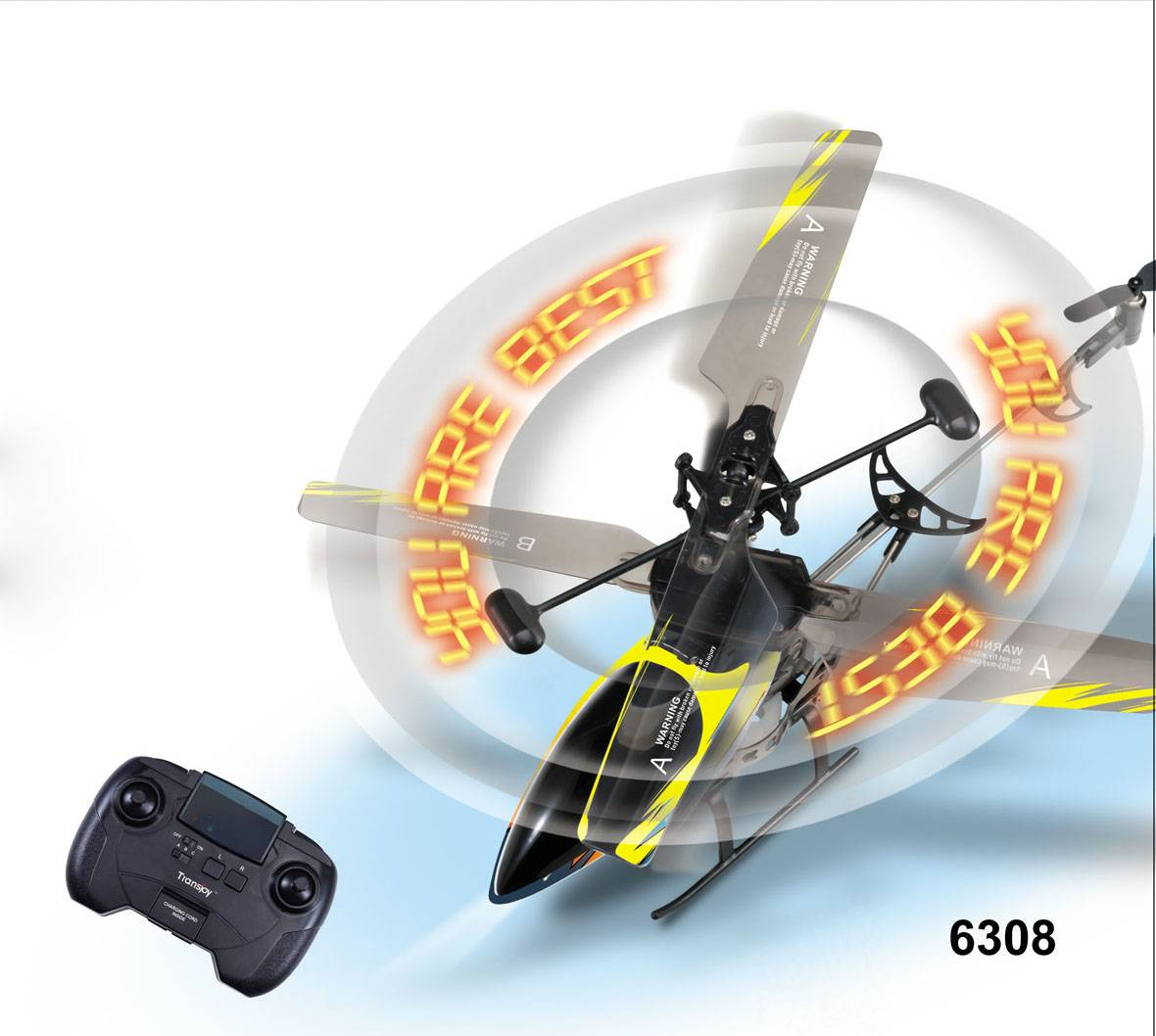 3.5ch Flashing RC Helicopter with Shining LED letter s or words