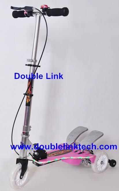 new style color LED light strip folding scooter