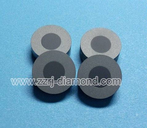Tungsten Carbide Ring Supported Round Diamond Wire Drawing Die Blanks