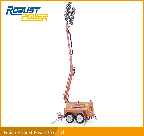 Portable Flood LED Light Tower with Generator (RPLT-7200)
