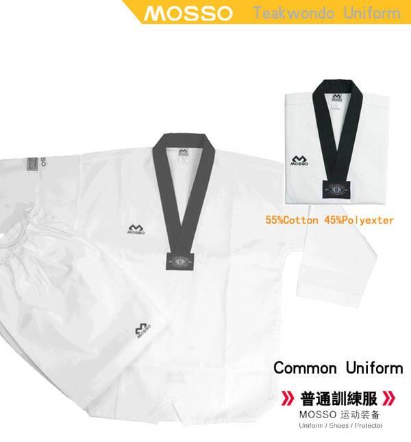 Free Shipping MOSSO Senior  Taekwondo  training uniform/dobok