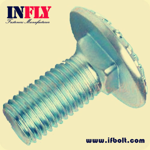 Carriage Bolt DIN603 M6-M20 mushroom head square neck bolt,Infly Fasteners