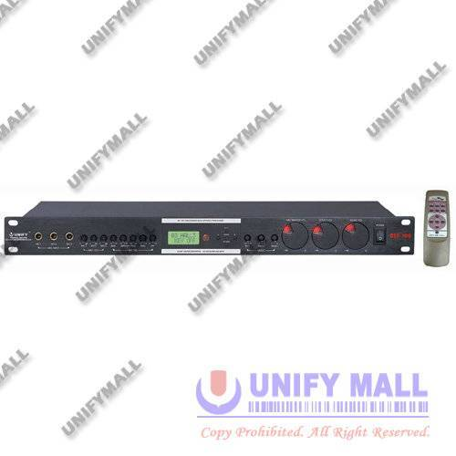 UNIFY AD-DSP100 Professional Digital Key Control Karaoke Mixer with Remote Control (3 Mic)