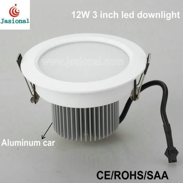 AC90-250V 12w 3 inch Dimmable downlight led