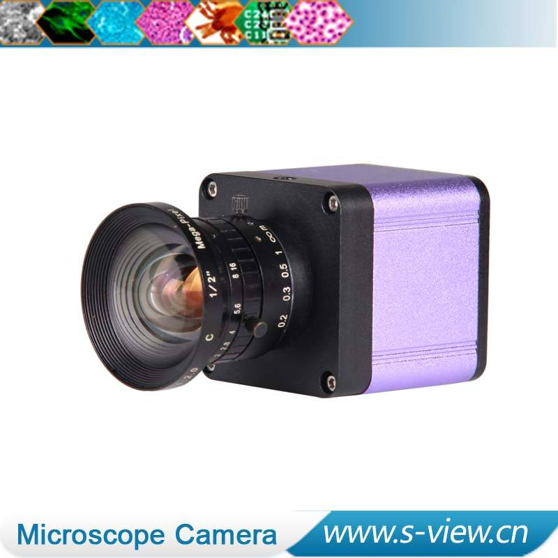Color VGA output C Mount CMOS industrial micrsocope camera