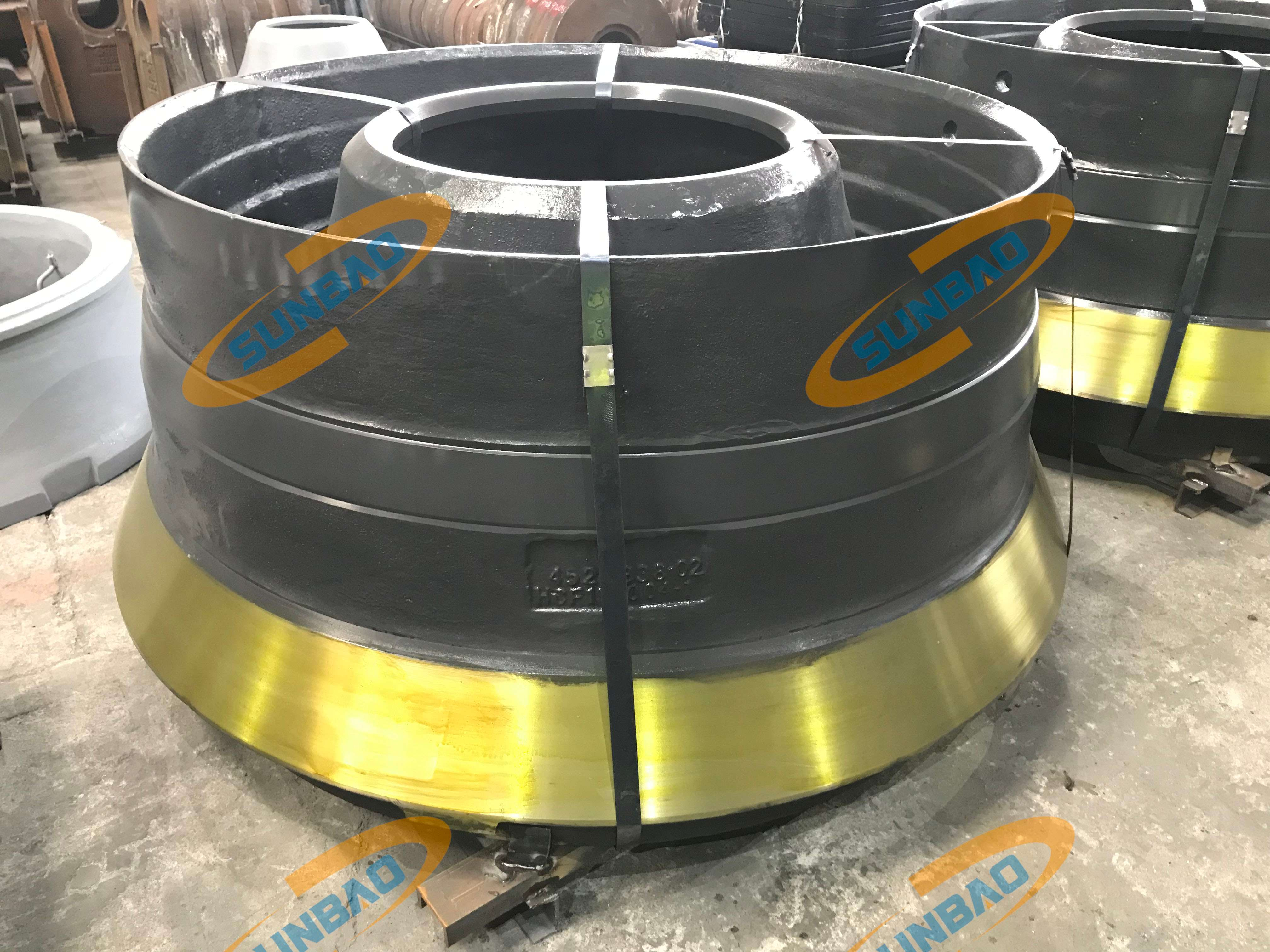 Mantle Bowl Liner Concave, Cone Crusher Wear Liner Manganese Casting Parts