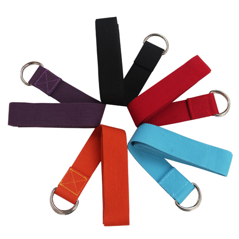 Adjustable D-Ring Polyester Cotton Yoga Strap