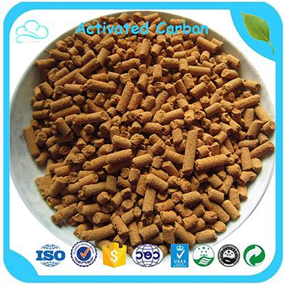 Yellow Pellet Adsorbent 6.0mm Desulfurization Activated Carbon For Sweetening