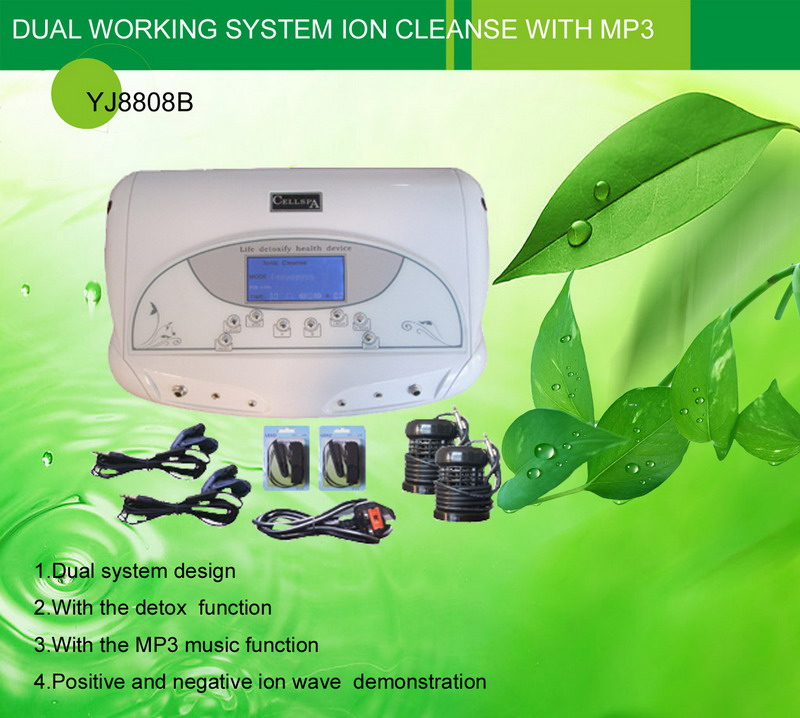 dual working system ion cleanse with MP3