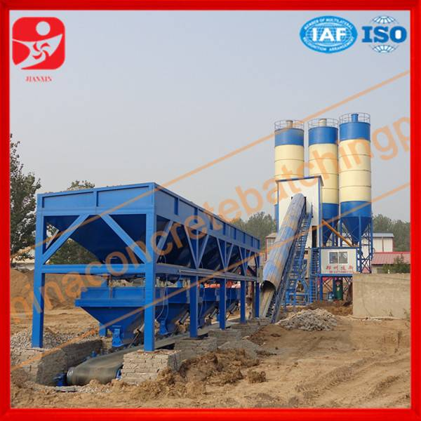 Top machine high productivity HZS60 concrete mixing station