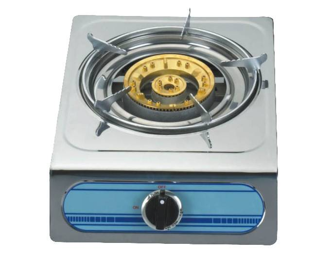 Stainless steel gas stove cooktop single burner