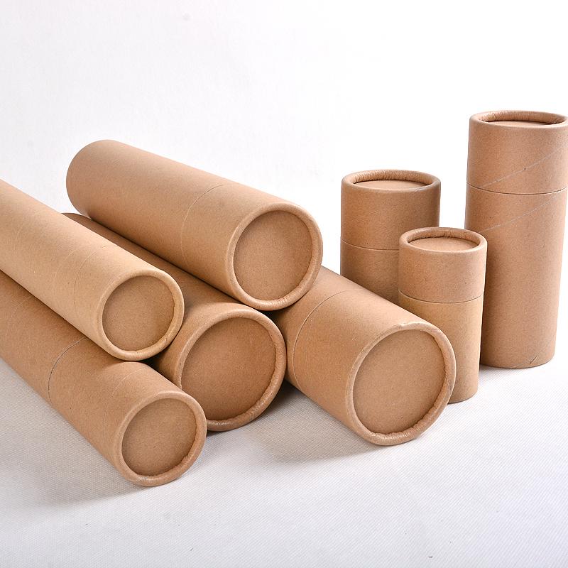 color custom printed cylinder round kraft paper tube box