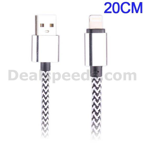 20CM Nylon 8PIN USB Data Charging Cable for iPhone 6/5