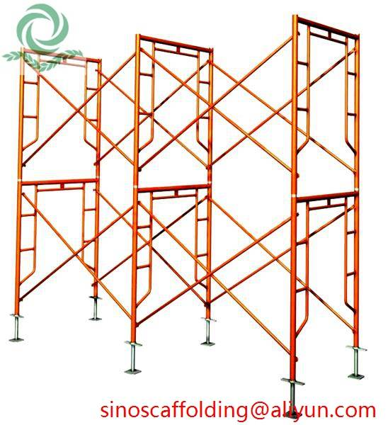 Painted H Frame Scaffolding