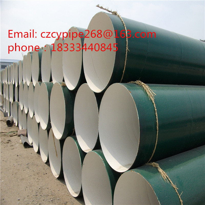 outside epoxy resin inner IPN8710 coated anticorrosion steel pipe