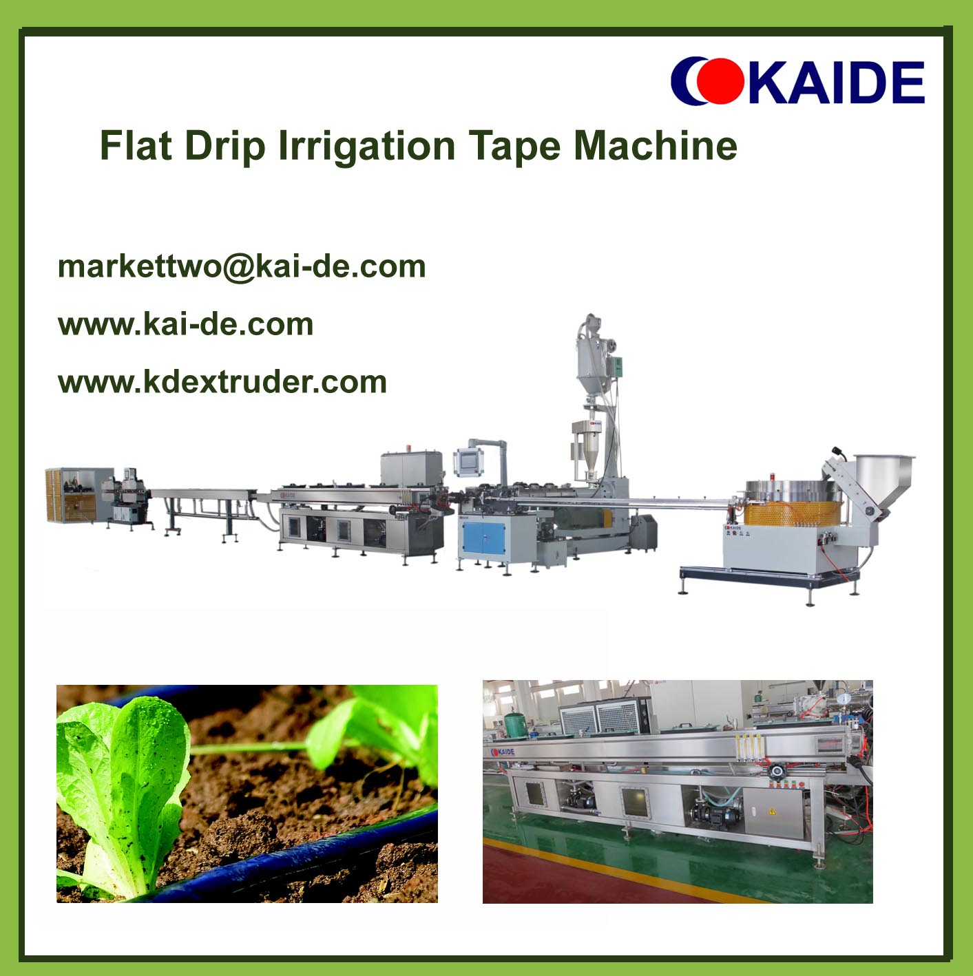 Flat Drip Irrigation Tape Extrusion Machine 16mmx0.15mm