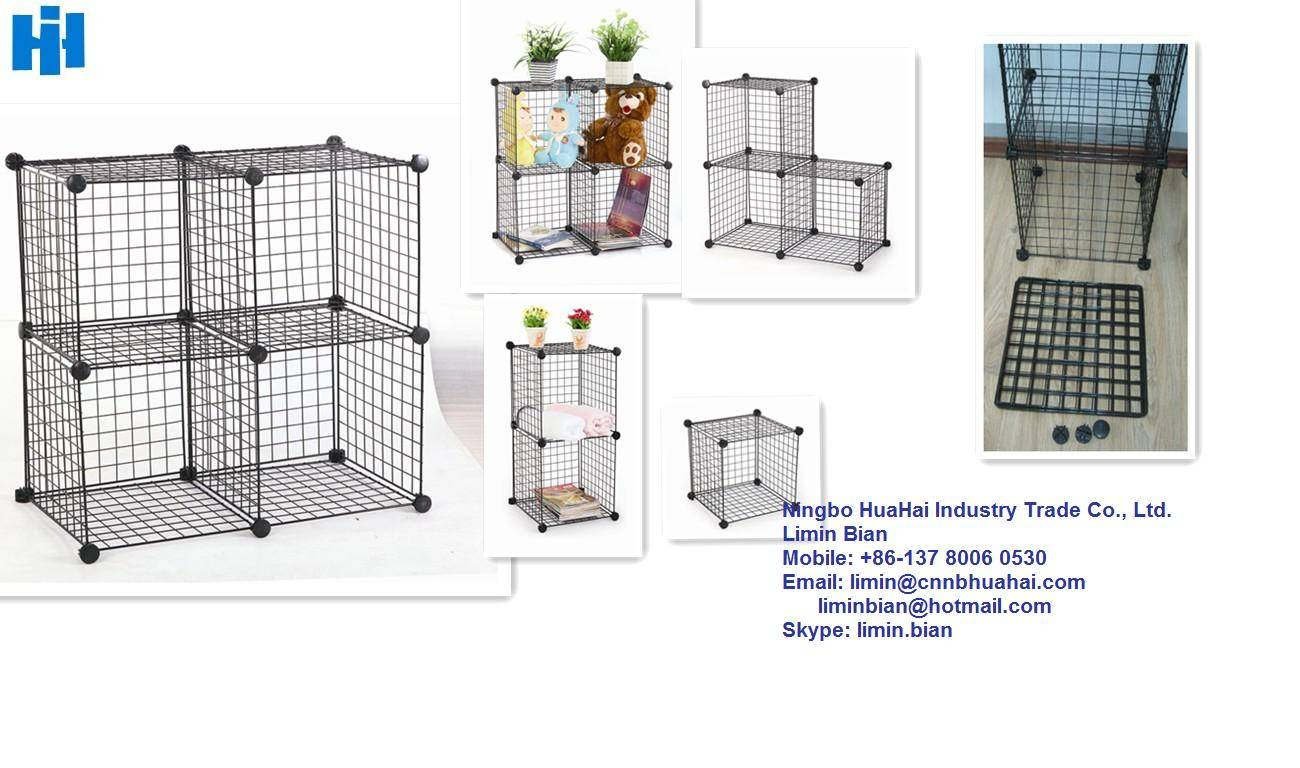 wire grid for storage cages