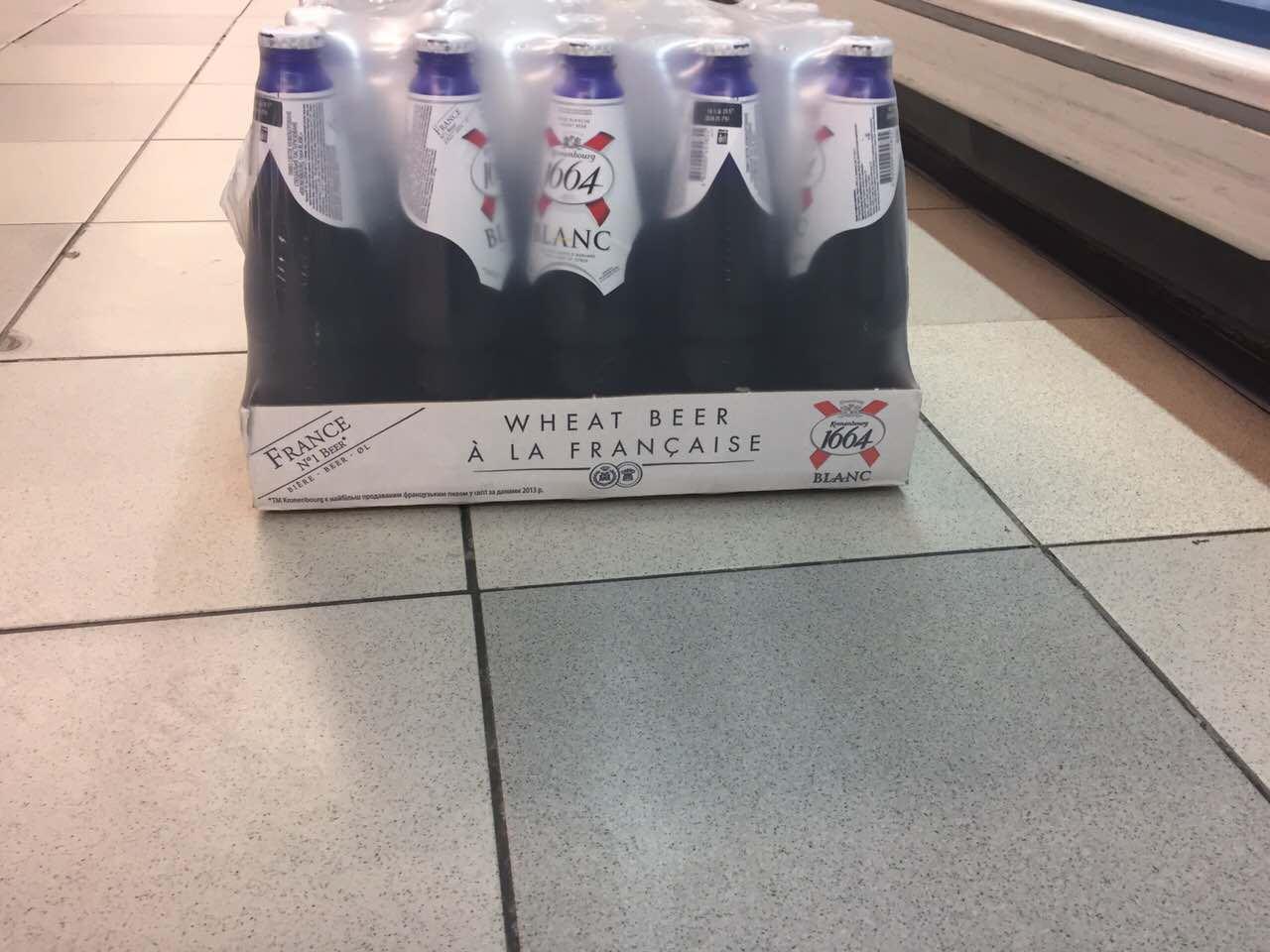 Kronenbourg 1664,Hoegaarden white/blanche beer 24x33cl bottles