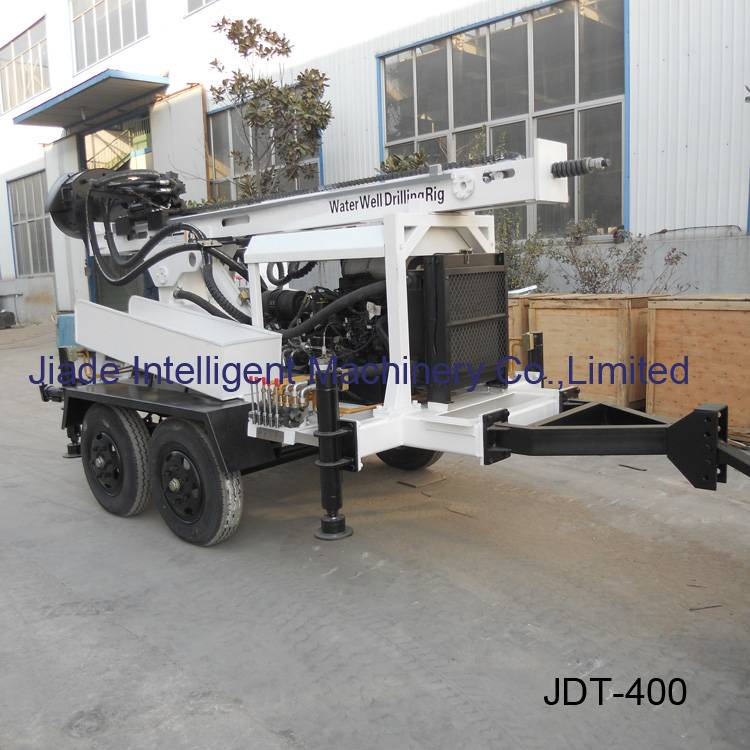 water well rigs sale JDT400 trailer drill - Jiade