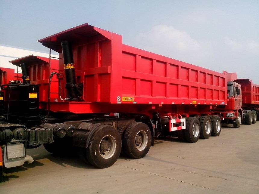 80 Ton tipper trailer truck