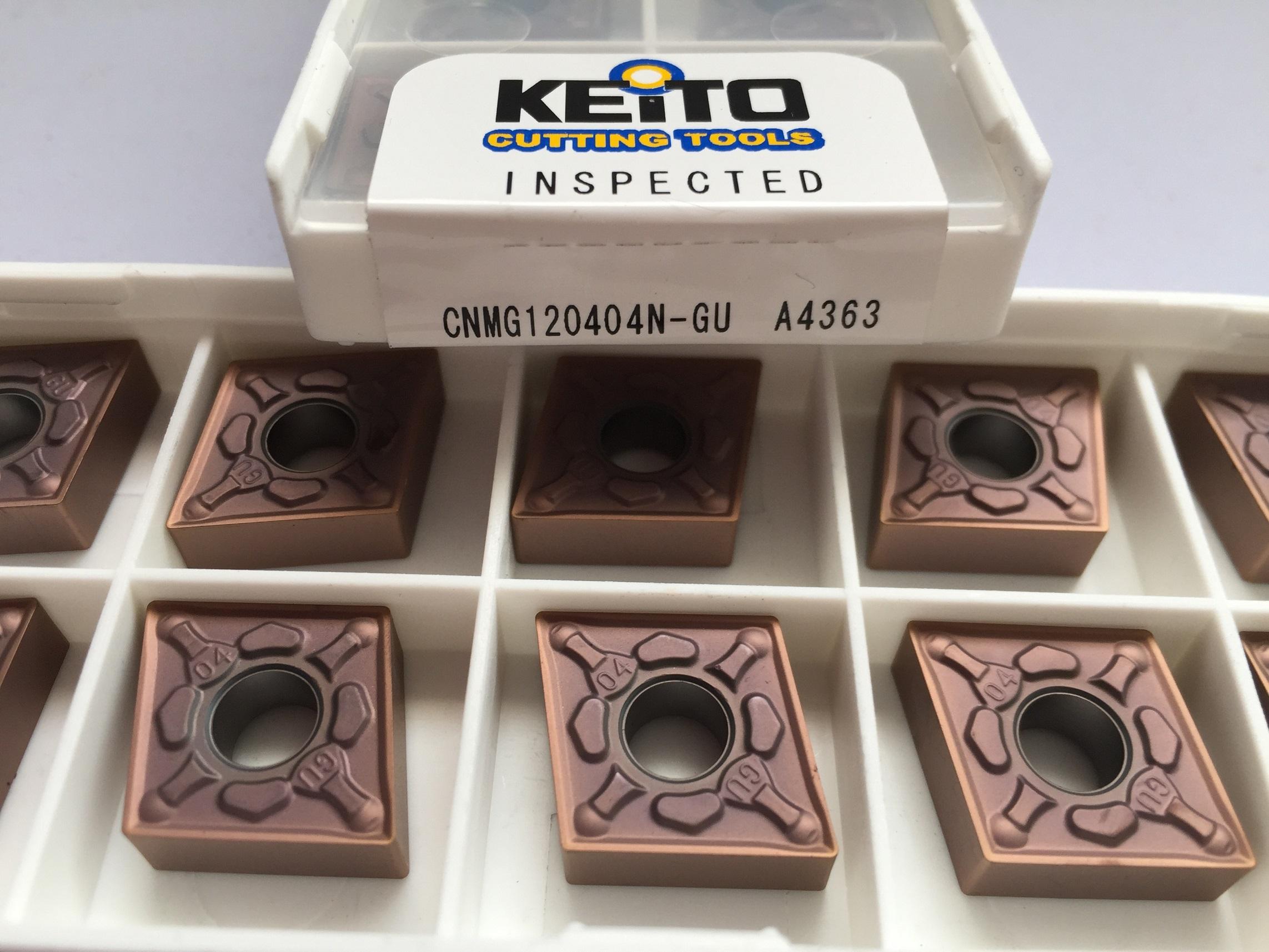 Carbide inserts CNMG120404N-GU