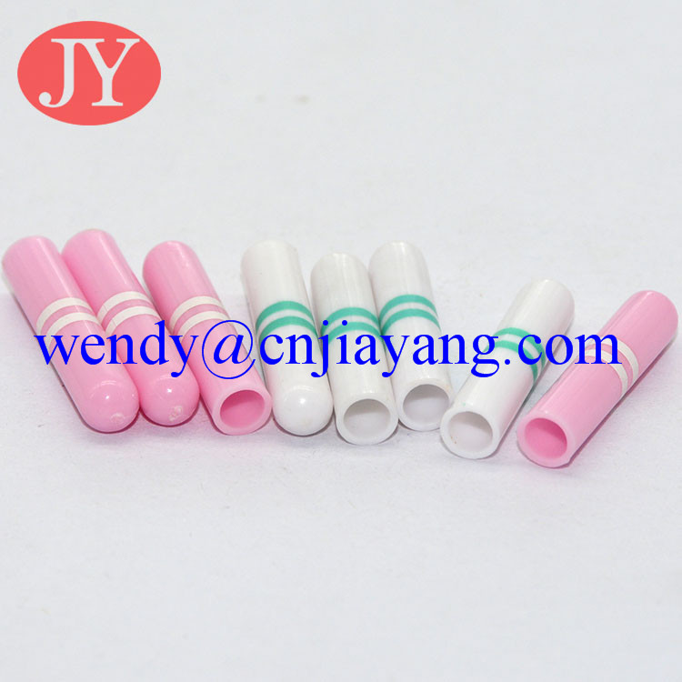 various color ABS plastic aglet shoelace tip plastic tip