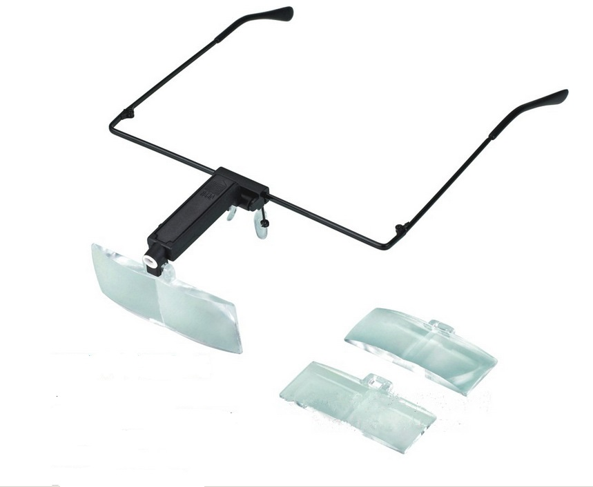 1.5X 2.5X 3.5X Bracket Headband Magnifier Loupe Magnifying Glasses with 1 LED Lights