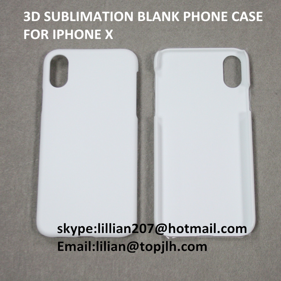 3d sublimation heat press printing phone case for iphone X case