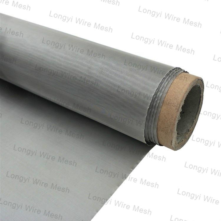Black Bright Ti 50 100 Mesh Titanium Woven Wire Mesh