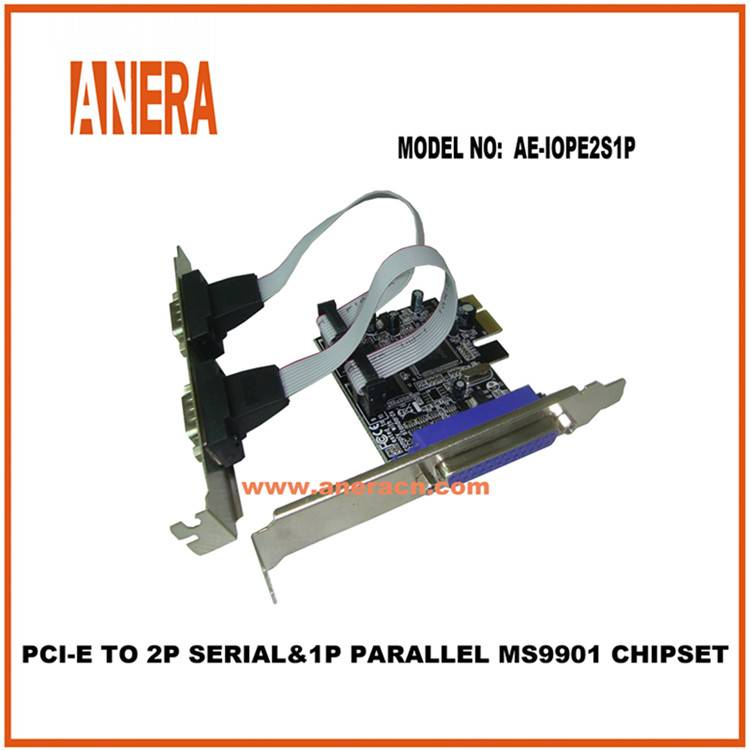 PCI-E TO 2PORT SERIAL & 1PORT PARALLEL MS9901 CHIPSET