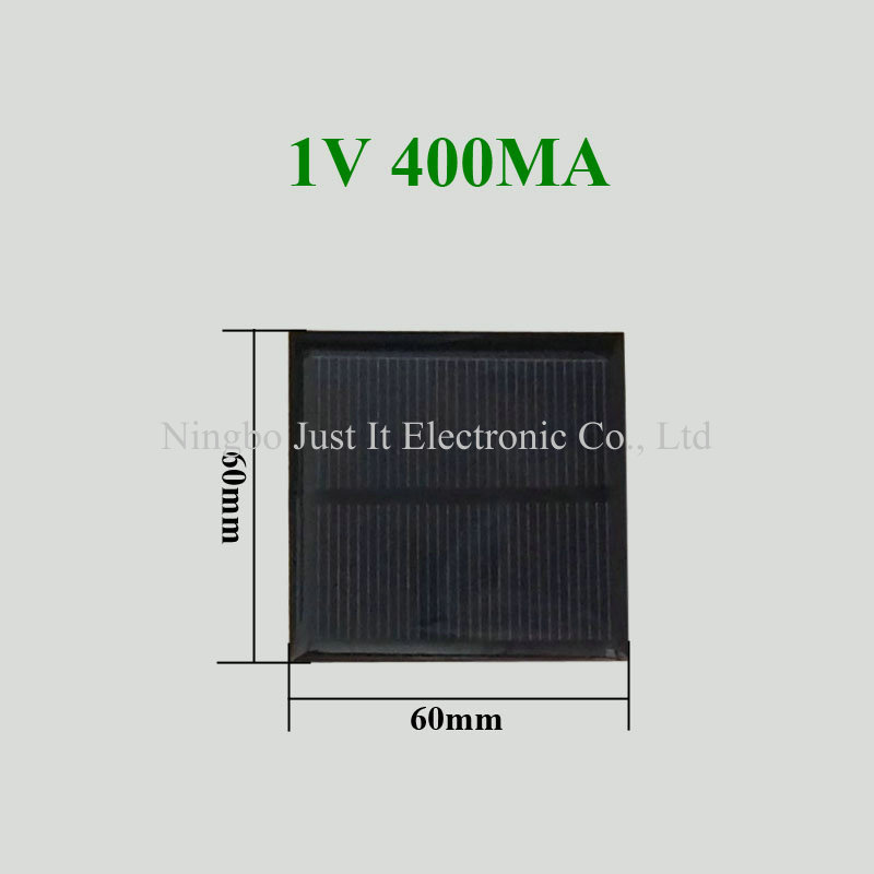 1V 400mA 0.4W 60x60mm Epoxy Resin Solar Panel