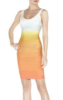 2013 orange ombre bandage dresses dresses factory