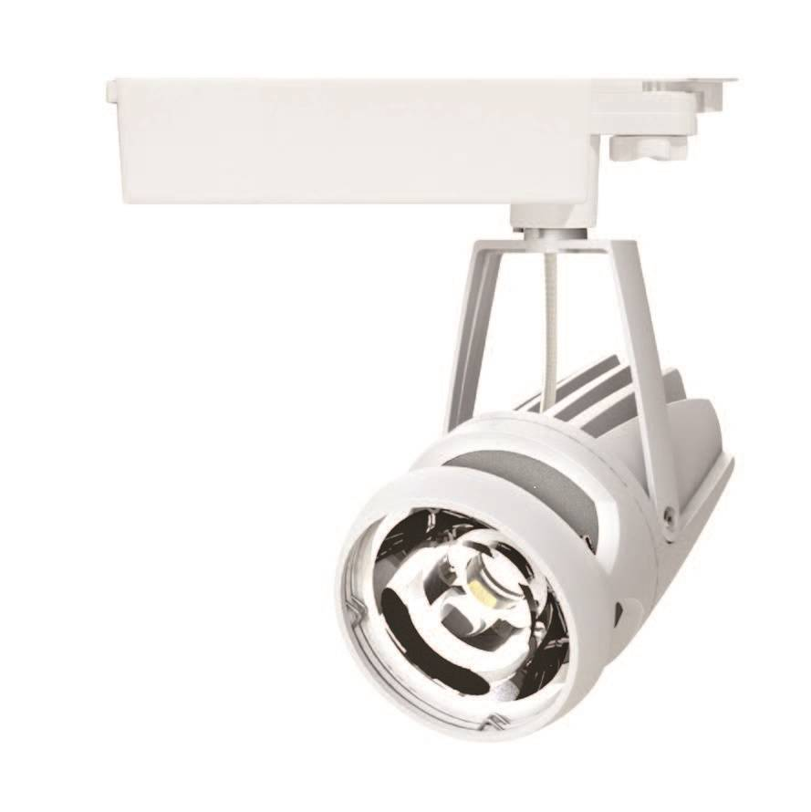 High Power Shop Gallery Dimmable 30w Cob LED Track Light
