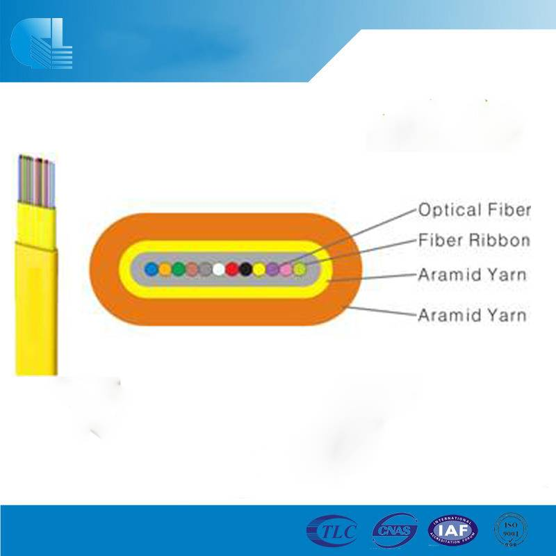 Indoor Flat Fiber Ribbon Fiber Optic Cable (GJDFBV)