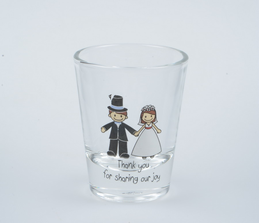 Promotion wedding shot glass Oem Printing glass cup