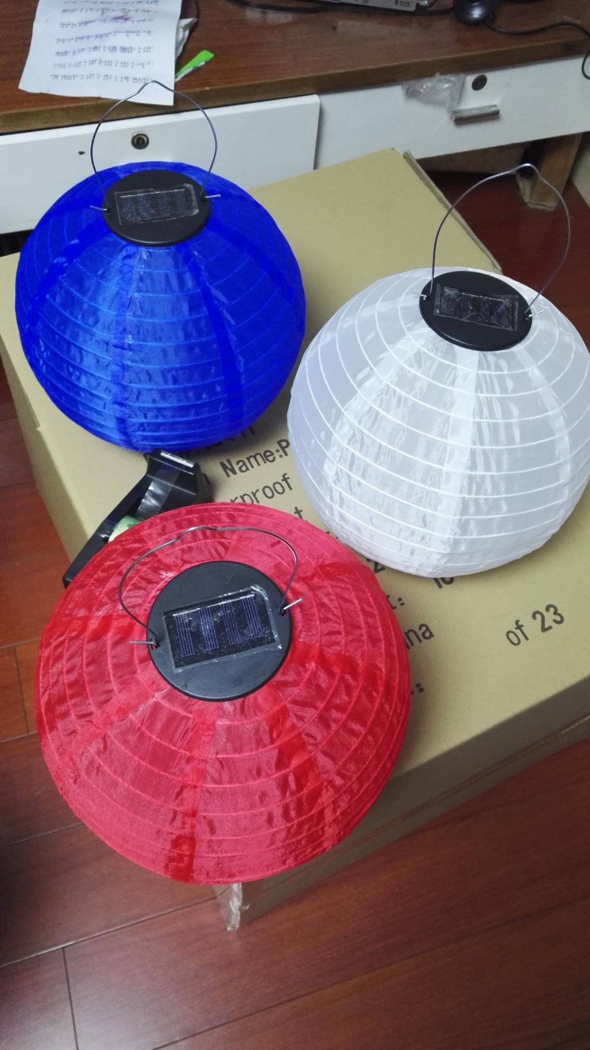 Paper/Fabric Lanterns with/without solar panel for party decoration