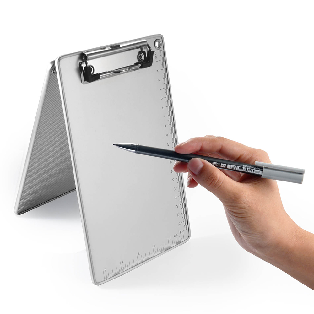 Glosen A4 Size Aluminum Clipboard Metal Clip C1085