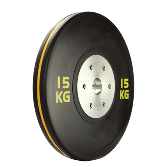 IWF Competition Bumper Plates Weight Plates Set Competition with Color Strips