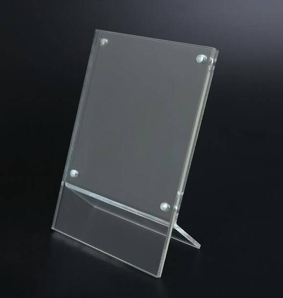 Clear plexiglass picture frame